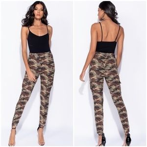 New Camo Slim Fit Cargo Leggings